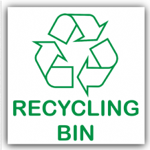 1 x Recycling Bin Self Adhesive Sticker-Recycle Logo Sign-Environment Label